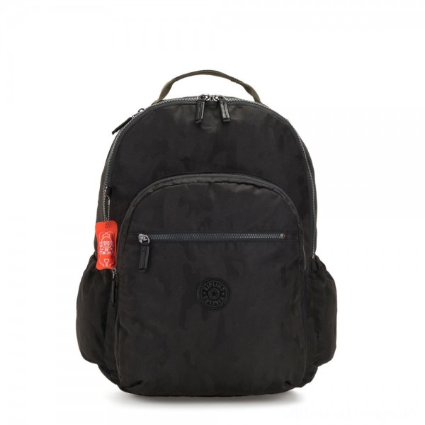Kipling SEOUL GO XL Extra large backpack with laptop protection Camo Black