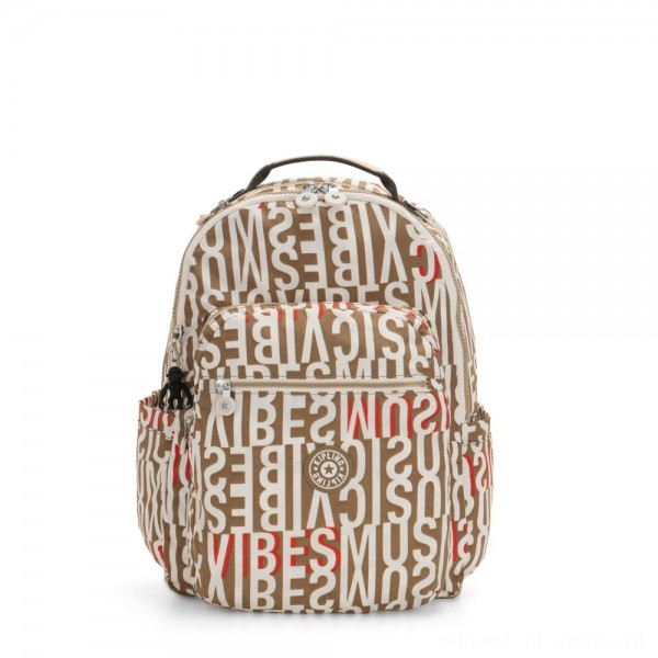 Black Friday 2020 - Kipling SEOUL Large backpack with Laptop Protection Studio Print