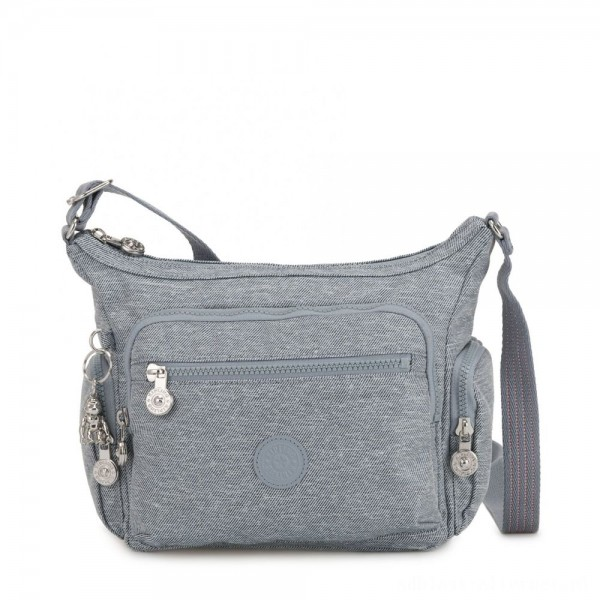 Black Friday 2020 - Kipling GABBIE S Small Crossbody Bag with multiple compartments Cool Denim