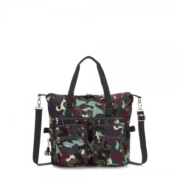 Black Friday 2020 - Kipling NEW ERASTO Large Tote with Front Pockets Camo Large
