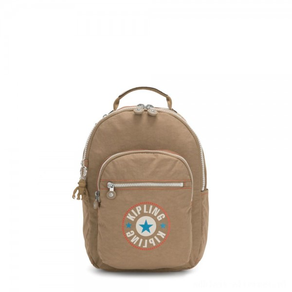 Kipling SEOUL S Small Backpack with Tablet Compartment Sand Block