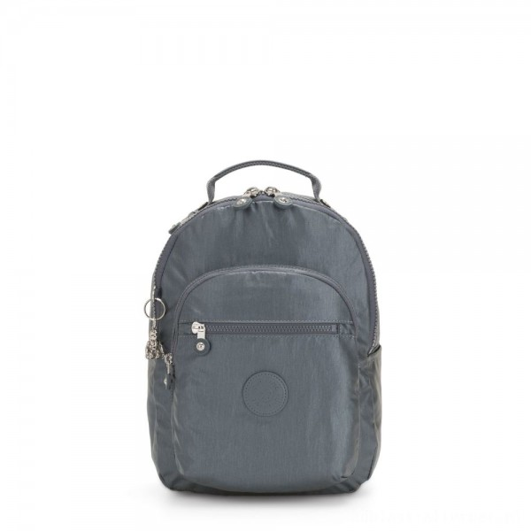 Black Friday 2020 - Kipling SEOUL S Small Backpack with Tablet Compartment Steel Grey Metallic