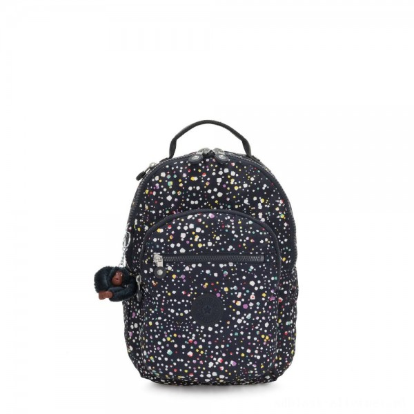 Black Friday 2020 - Kipling SEOUL S Small backpack with tablet protection Happy Dot Print