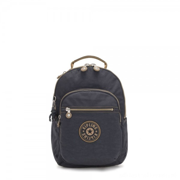 Kipling SEOUL S Small Backpack with Tablet Compartment Night Grey Block