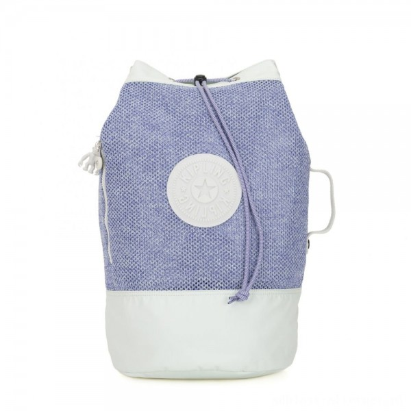 Black Friday 2020 - Kipling ETOKO Large drawstring bag with backpack straps Lilac Mesh Bl