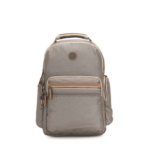 Kipling OSHO Large backpack with organsiational pockets Fungi Metal