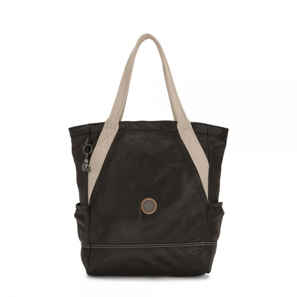 Black Friday 2020 - Kipling ALMATO Large Spacious Tote Bag Delicate Black