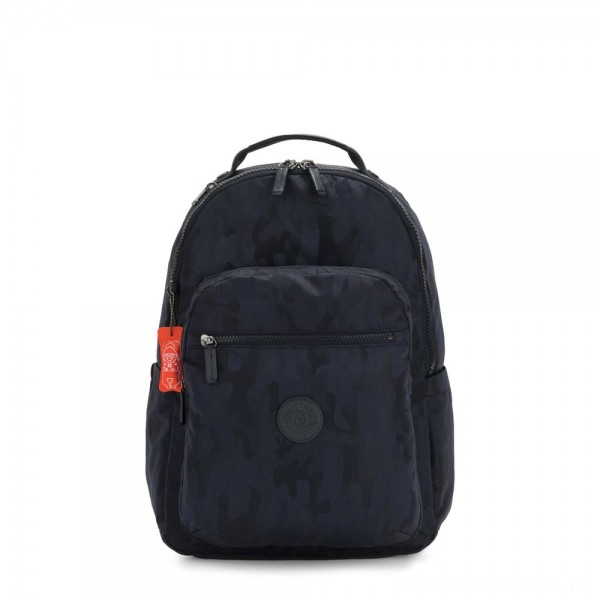 Black Friday 2020 - Kipling SEOUL Large backpack with Laptop Protection Blue Camo