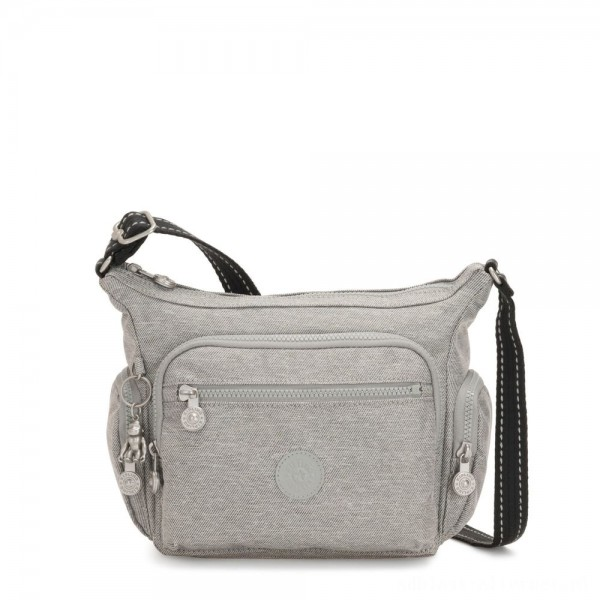 Kipling GABBIE S Small Crossbody Bag with multiple compartments Chalk Grey