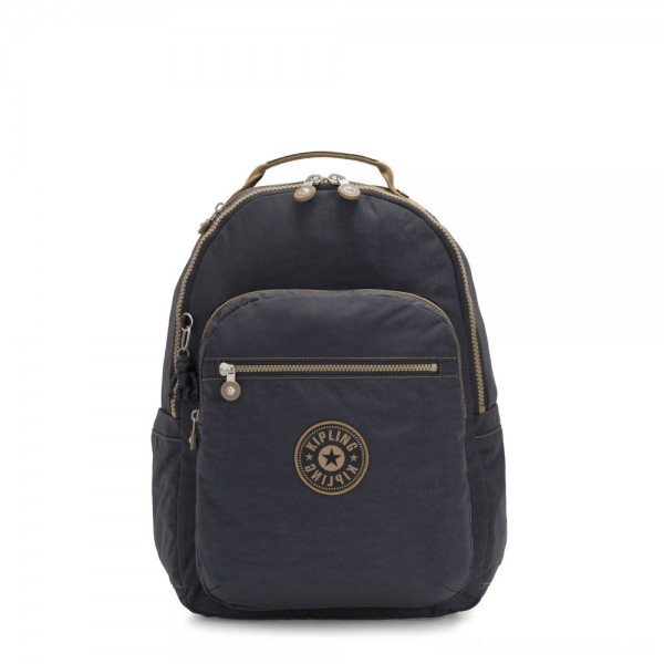 Kipling SEOUL Large backpack with Laptop Protection Night Grey Block