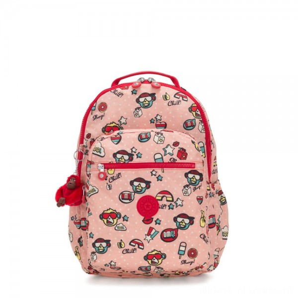 Kipling SEOUL GO Large Backpack with Laptop Protection Monkey Play