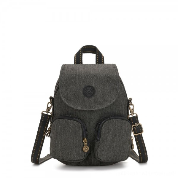 Black Friday 2020 - Kipling FIREFLY UP Small Backpack Covertible To Shoulder Bag Black Indigo