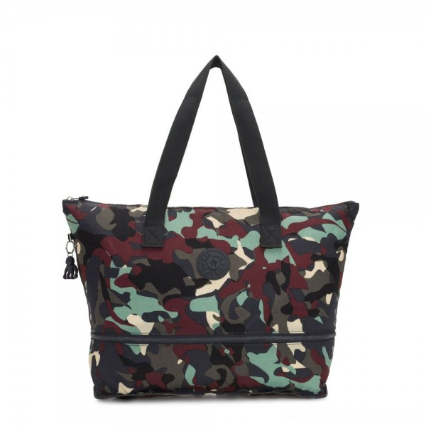 Black Friday 2020 - Kipling IMAGINE PACK Large Foldable Tote Bag Camo Large