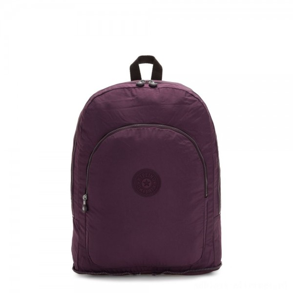 Kipling EARNEST Large Foldable Backpack Dark Plum