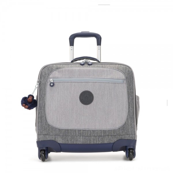 Black Friday 2020 - Kipling MANARY 4 Wheeled Bag with Laptop protection Ash Denim Bl