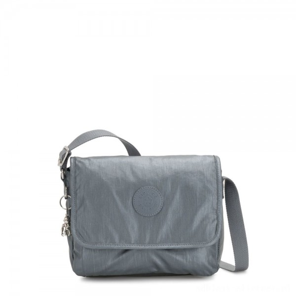 Black Friday 2020 - Kipling NITANY Medium Crossbody Bag Steel Grey Metallic