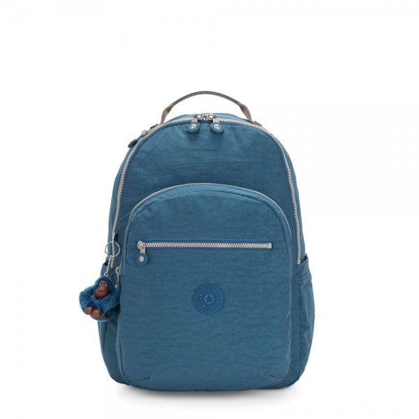 Kipling SEOUL Large Backpack with Laptop Protection Mystic Blue