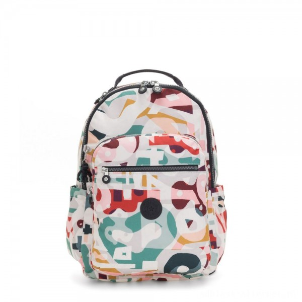 Black Friday 2020 - Kipling SEOUL Large backpack with Laptop Protection Music Print