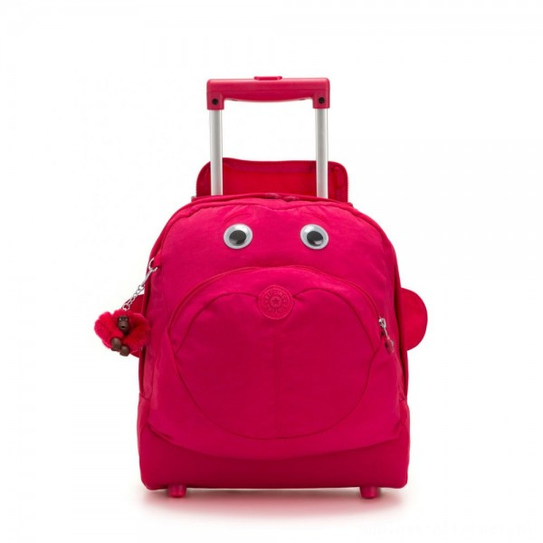 Black Friday 2020 - Kipling BIG WHEELY Wheeled School Bag True Pink