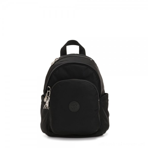 Black Friday 2020 - Kipling DELIA MINI Small Backpack with Front Pocket and Top Handle Galaxy Black