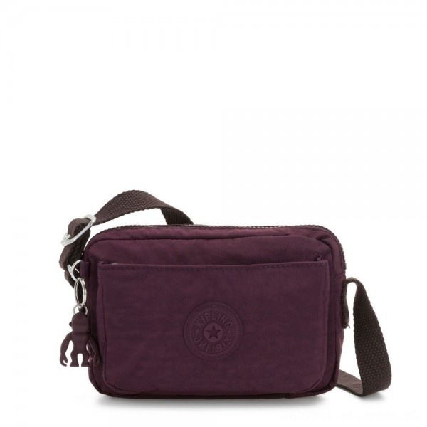 Black Friday 2020 - Kipling ABANU Mini Crossbody Bag with Adjustable Shoulder Strap Dark Plum
