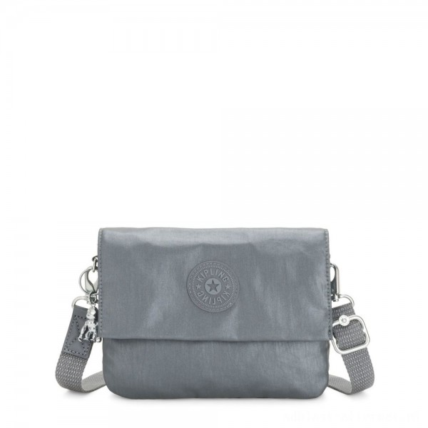 Black Friday 2020 - Kipling OSYKA 2 in 1 Crossbody and Pouch with Card Slots Steel Grey Gifting