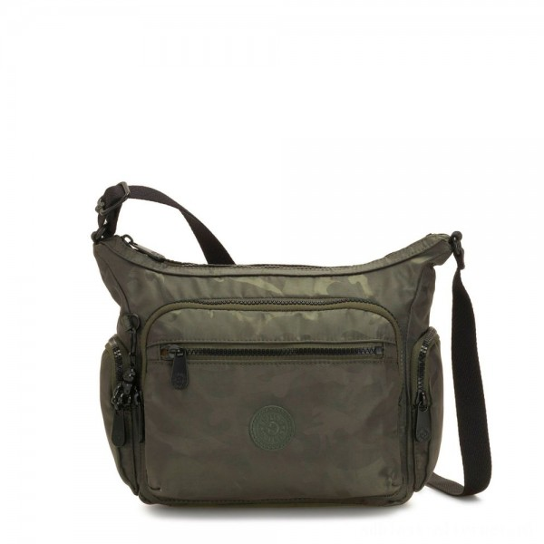 Kipling GABBIE S Crossbody Bag with Phone Compartment Satin Camo