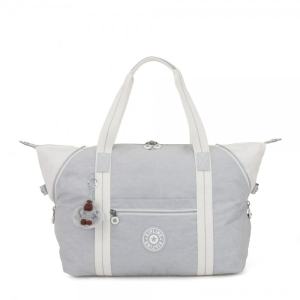 Black Friday 2020 - Kipling ART M Travel Tote With Trolley Sleeve Active Grey Bl
