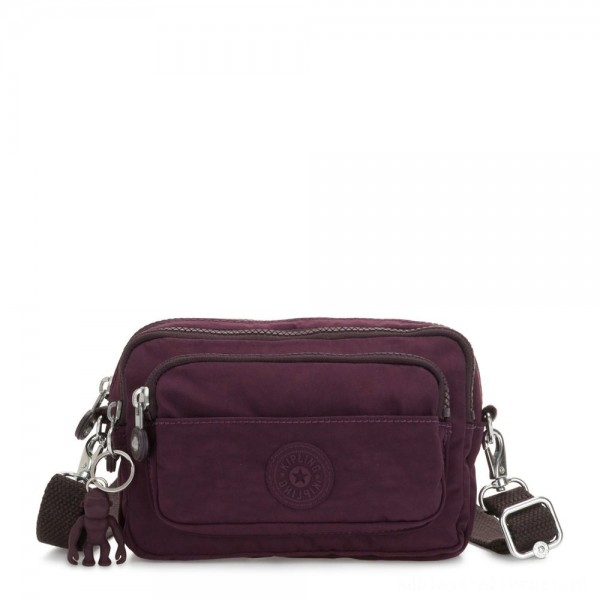 Black Friday 2020 - Kipling MULTIPLE Waist Bag Convertible to Shoulder Bag Dark Plum