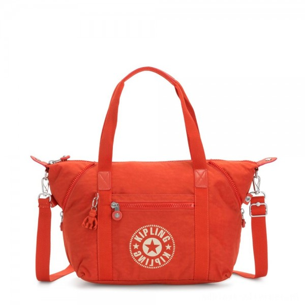 Black Friday 2020 - Kipling ART NC Lightweight Tote Bag Funky Orange Nc