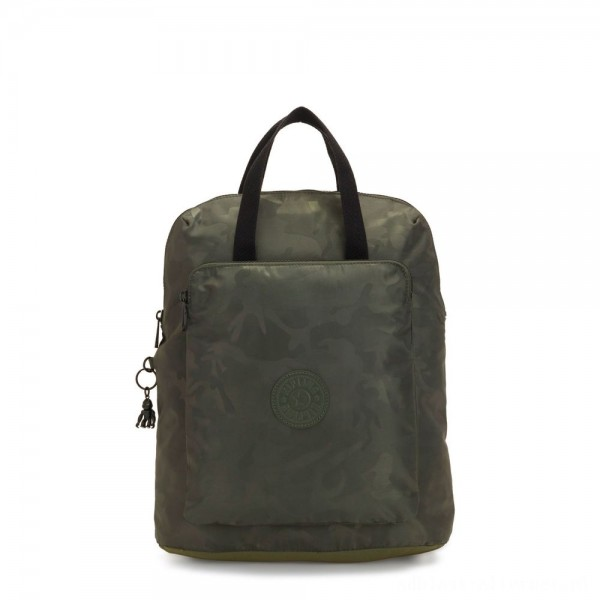 Kipling KAZUKI Large 2-in-1 Shoulderbag and Backpack Satin Camo
