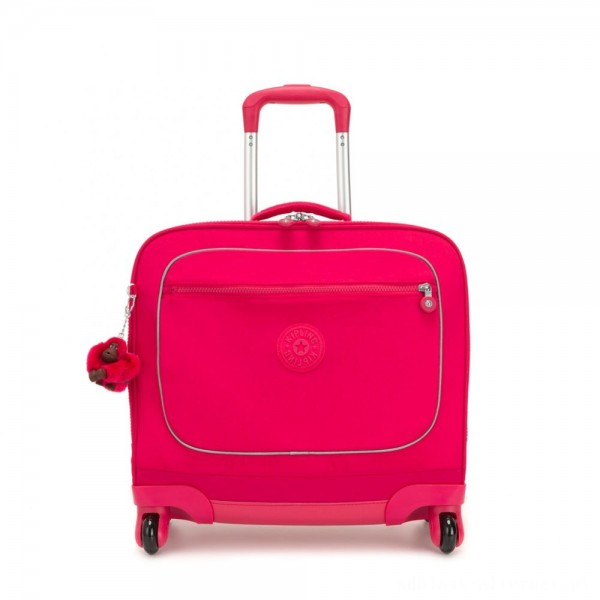 Black Friday 2020 - Kipling MANARY 4 Wheeled Bag with Laptop protection True Pink