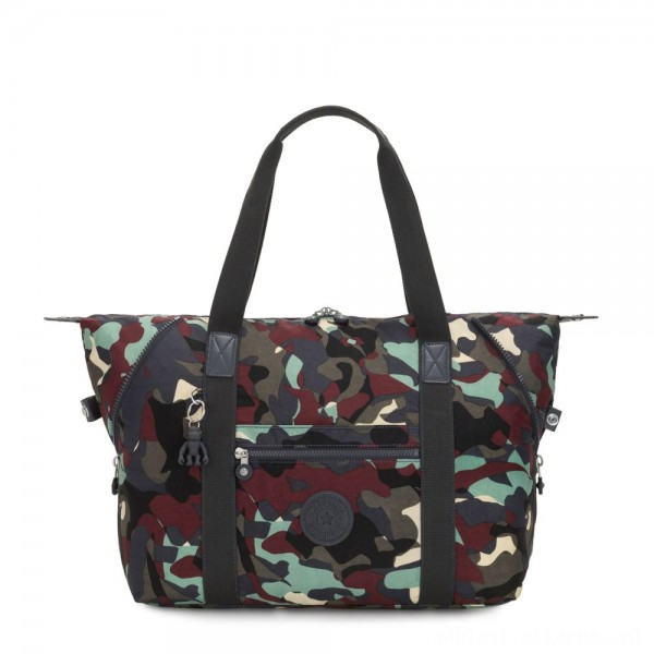 Black Friday 2020 - Kipling ART M Travel Tote With Trolley Sleeve Camo Large