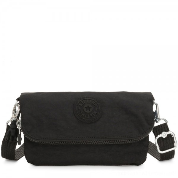 Black Friday 2020 - Kipling IBRI Medium 2 in 1 Crossbody and Pouch True Black Femme Strap