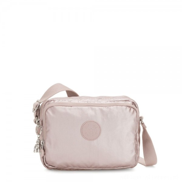 Black Friday 2020 - Kipling SILEN Small Across Body Shoulder Bag Metallic Rose