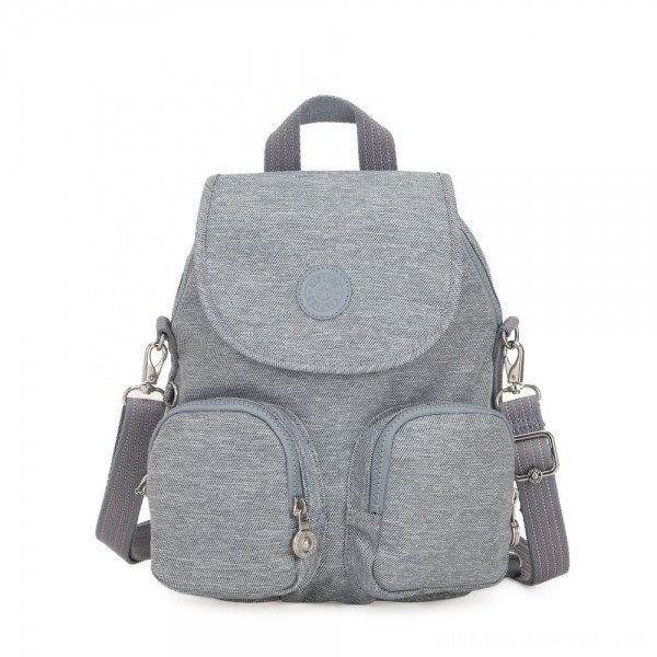 Black Friday 2020 - Kipling FIREFLY UP Small Backpack Covertible To Shoulder Bag Cool Denim