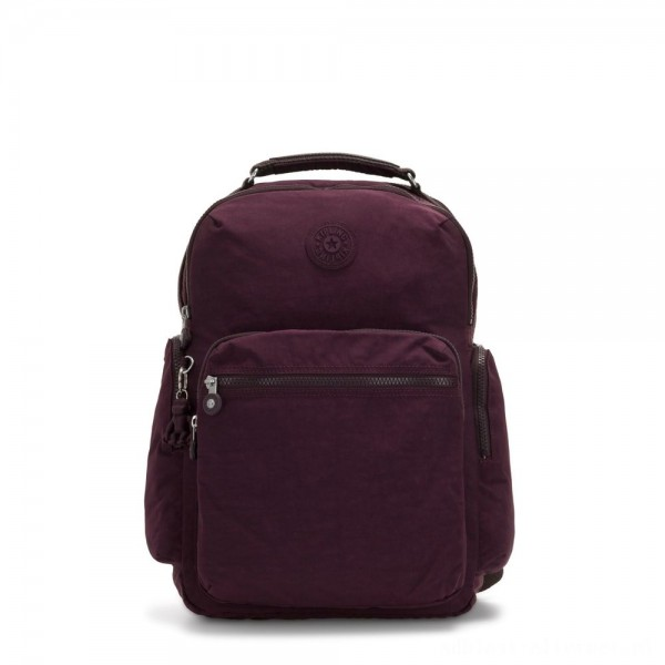 Black Friday 2020 - Kipling OSHO Large backpack with organsiational pockets Dark Plum