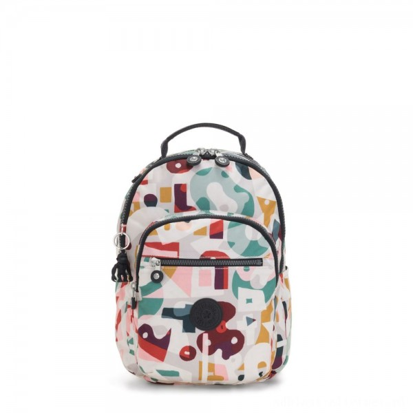 Kipling SEOUL S Small Backpack with Tablet Compartment Music Print