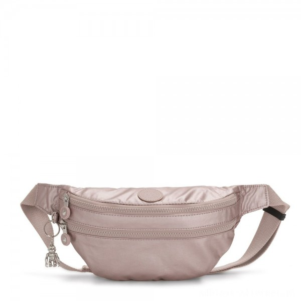 Kipling SARA Medium Bumbag Convertible to Crossbody Bag Metallic Rose