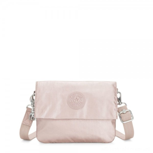 Black Friday 2020 - Kipling OSYKA 2 in 1 Crossbody and Pouch with Card Slots Metallic Rose Gifting